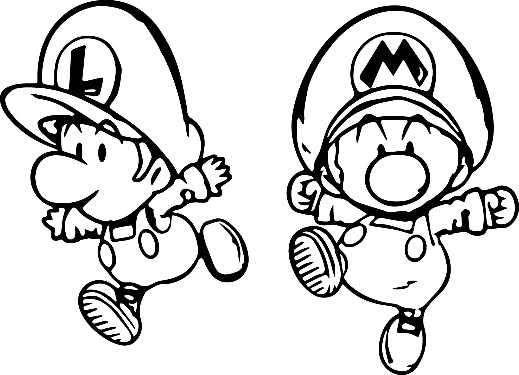 Coloring Pages Of Baby Mario And Luigi Coloring Page