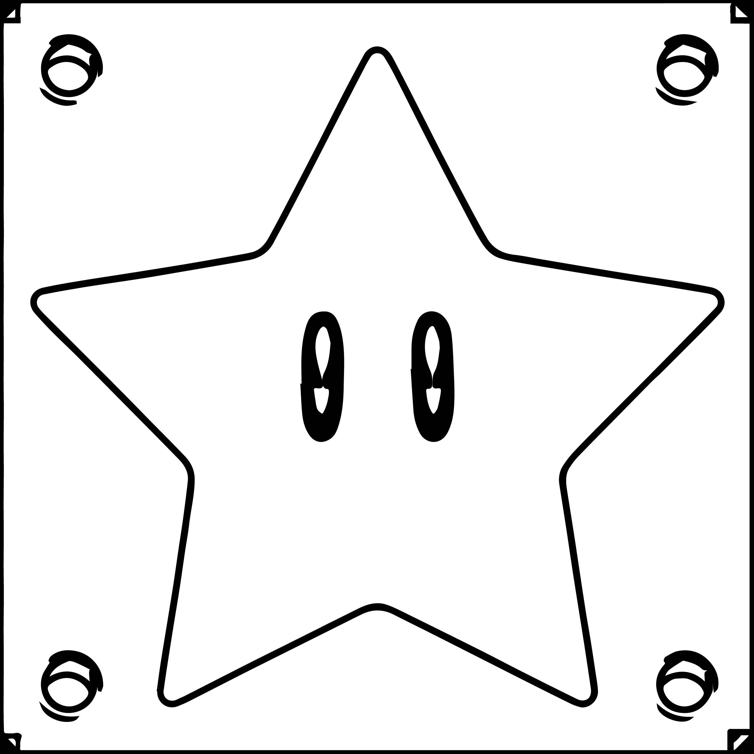 Super Mario Star Box Coloring Page