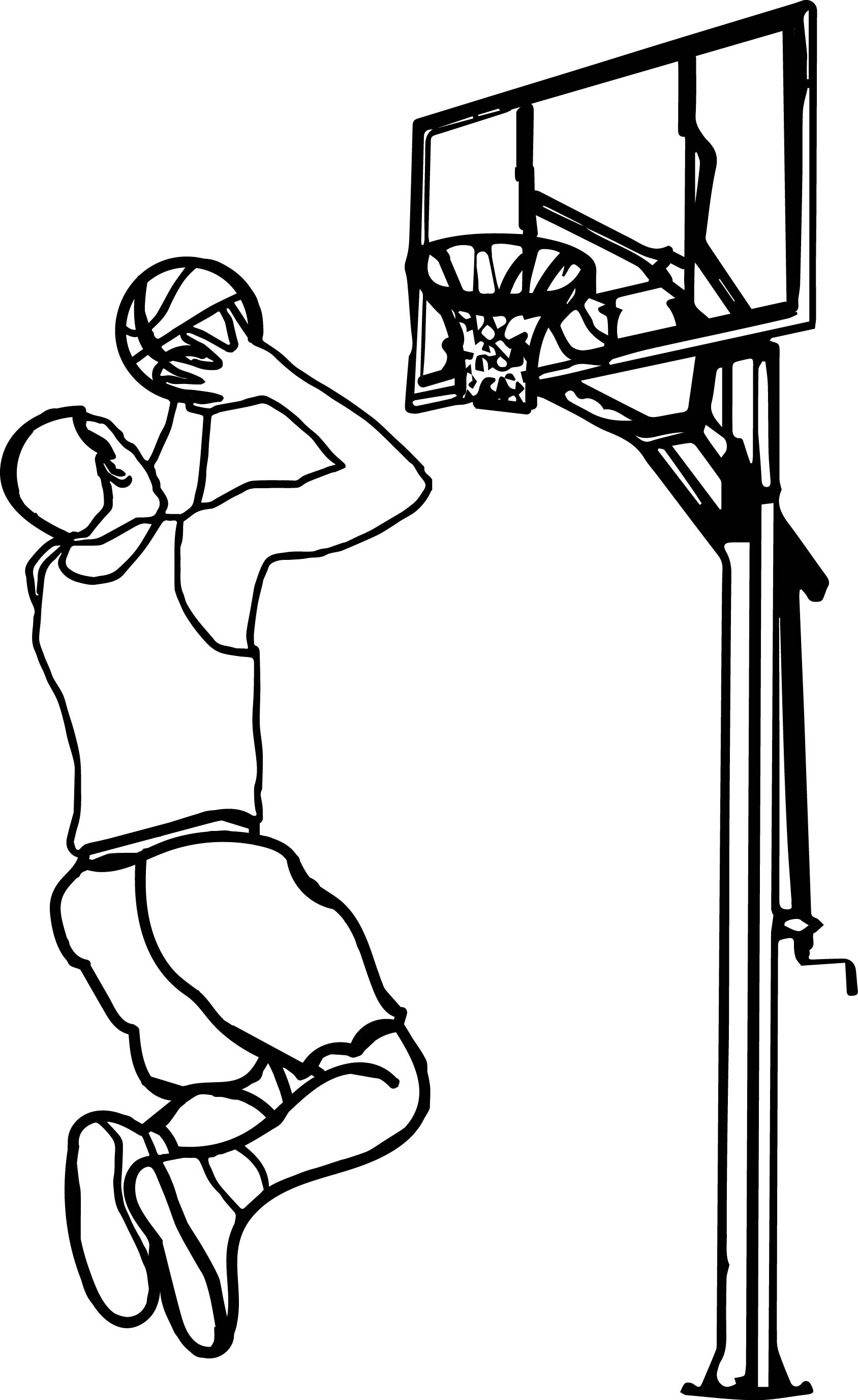 The Basketball Clipart For My Friend Thatrsquos You Playing Basketball Coloring Page