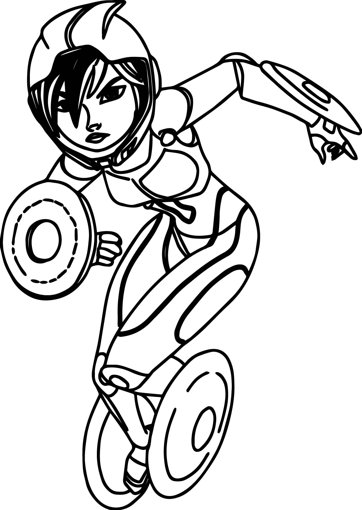 Big Hero 6 Characters Gogo Tomago Coloring Page Wecoloringpage