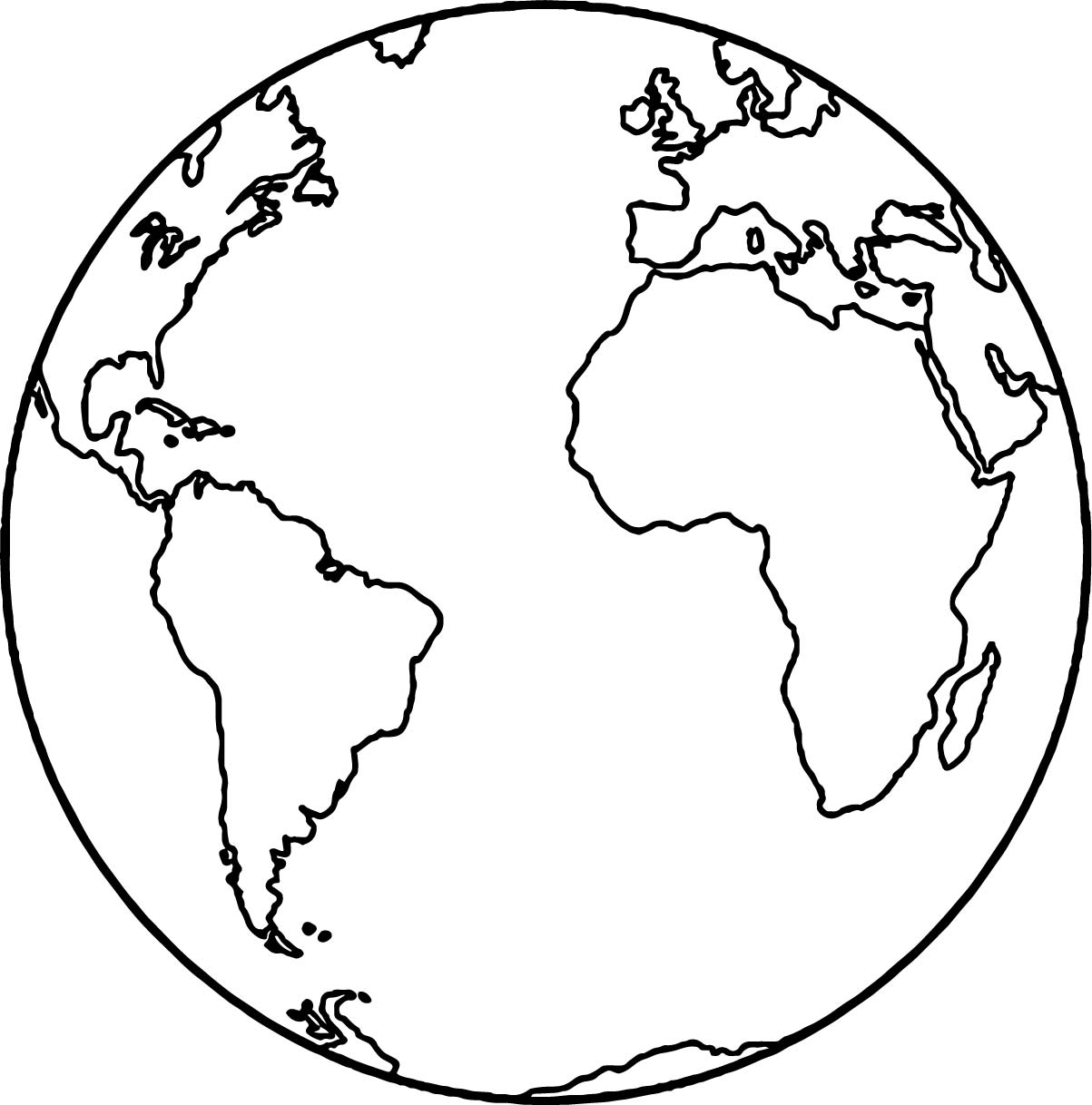 Earth Globe Coloring Page Wecoloringpage