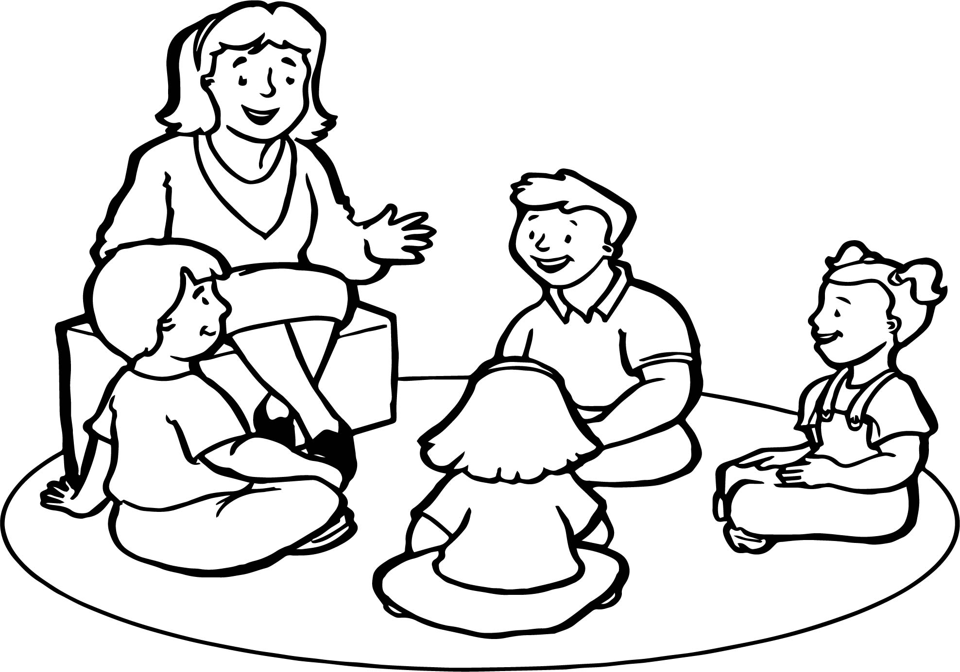 English Teacher Childrens Coloring Page