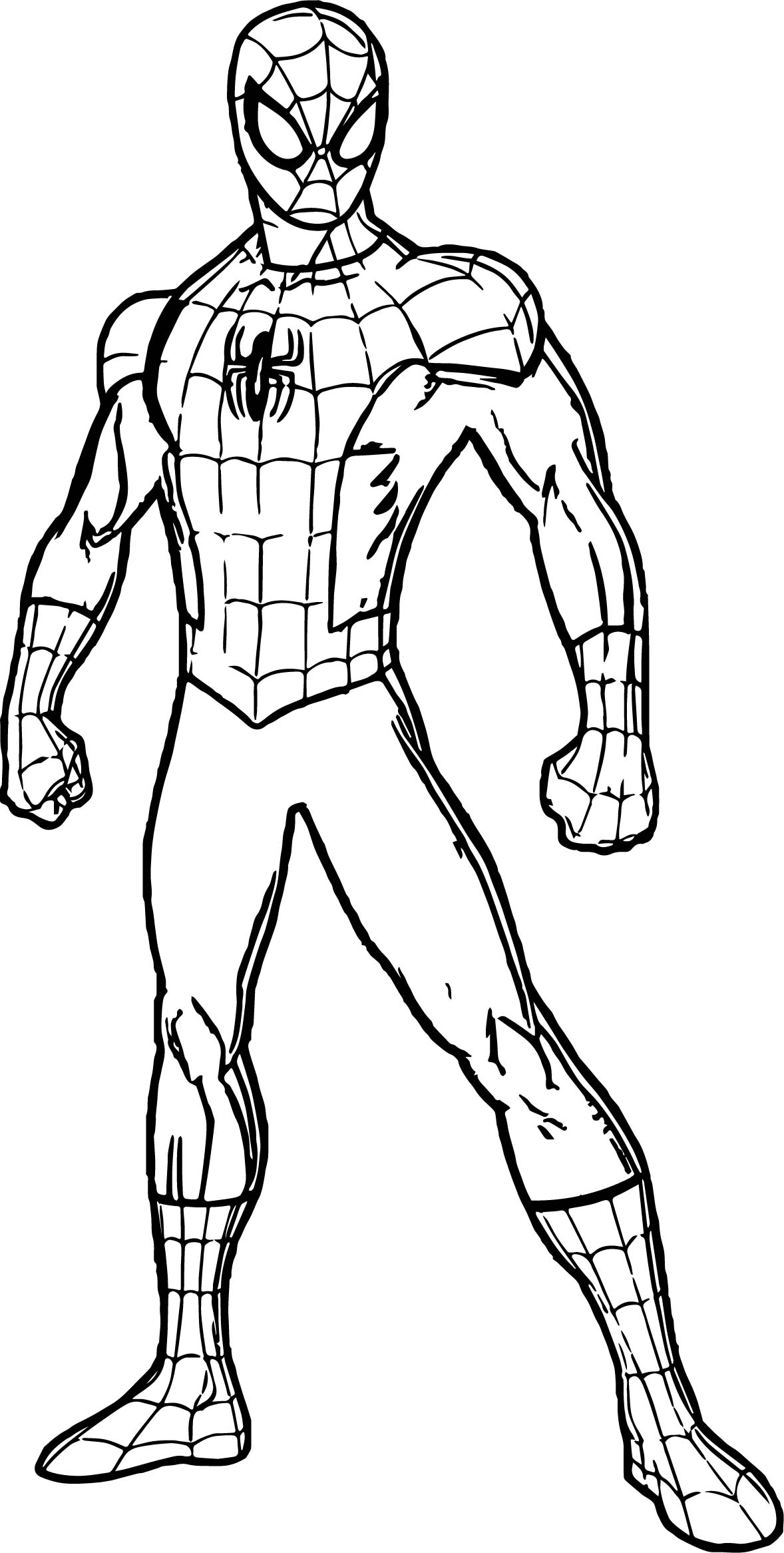 Spidey Spider Man Coloring Page