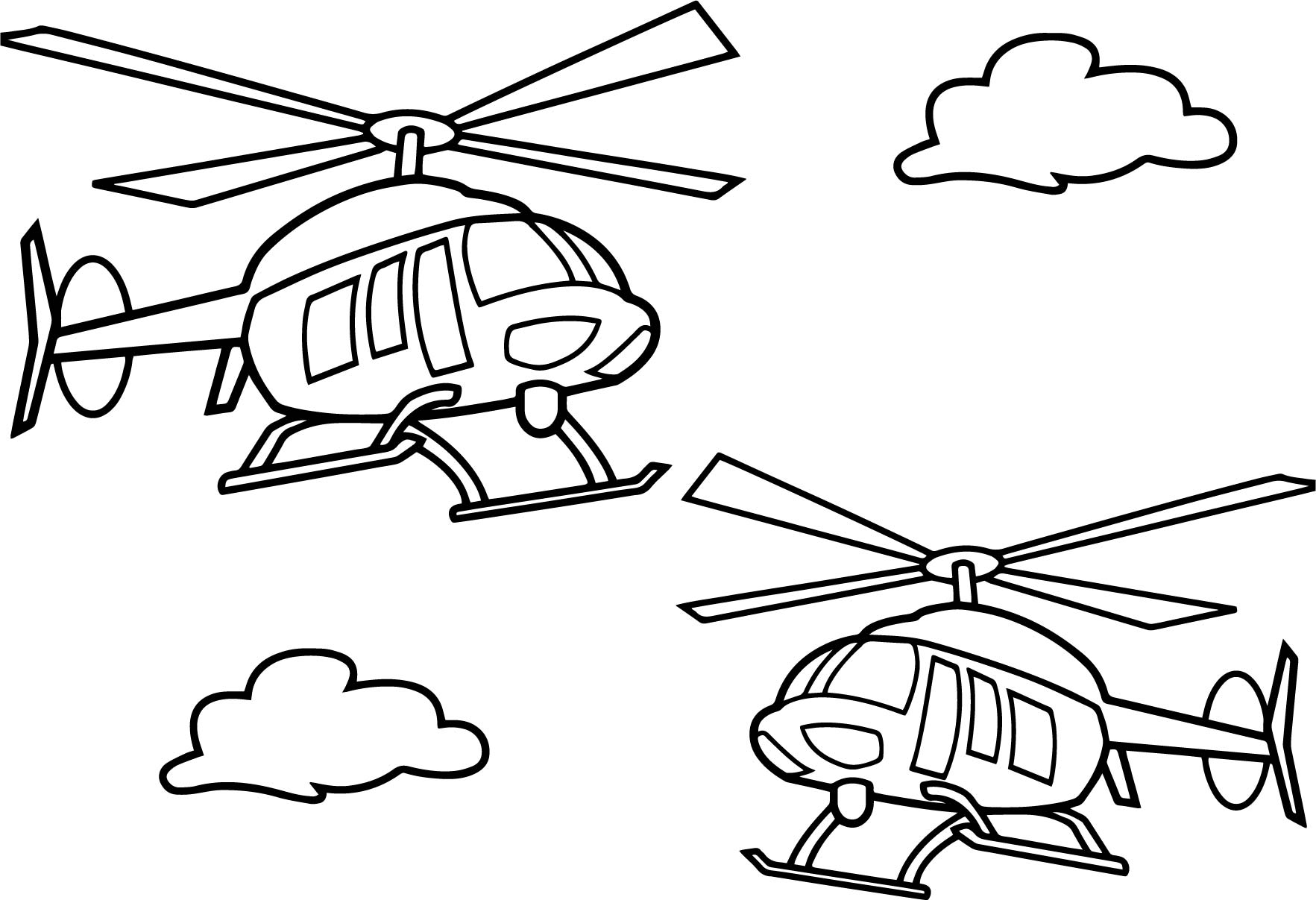 Helicopters Coloring Pages