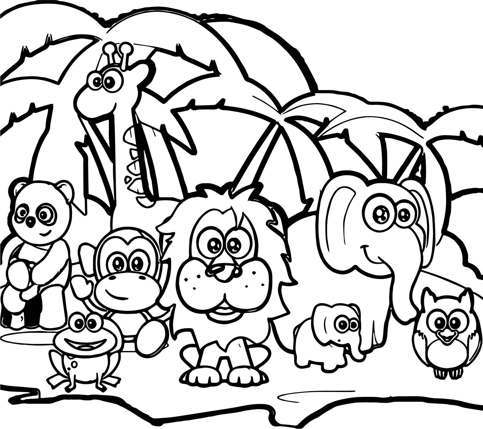 89 Abc Animal Zebra Lion Coloring Page