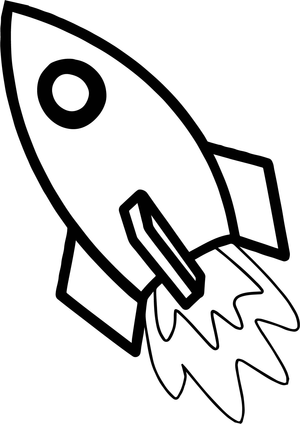 Astronaut Rocket Coloring Page Wecoloringpage