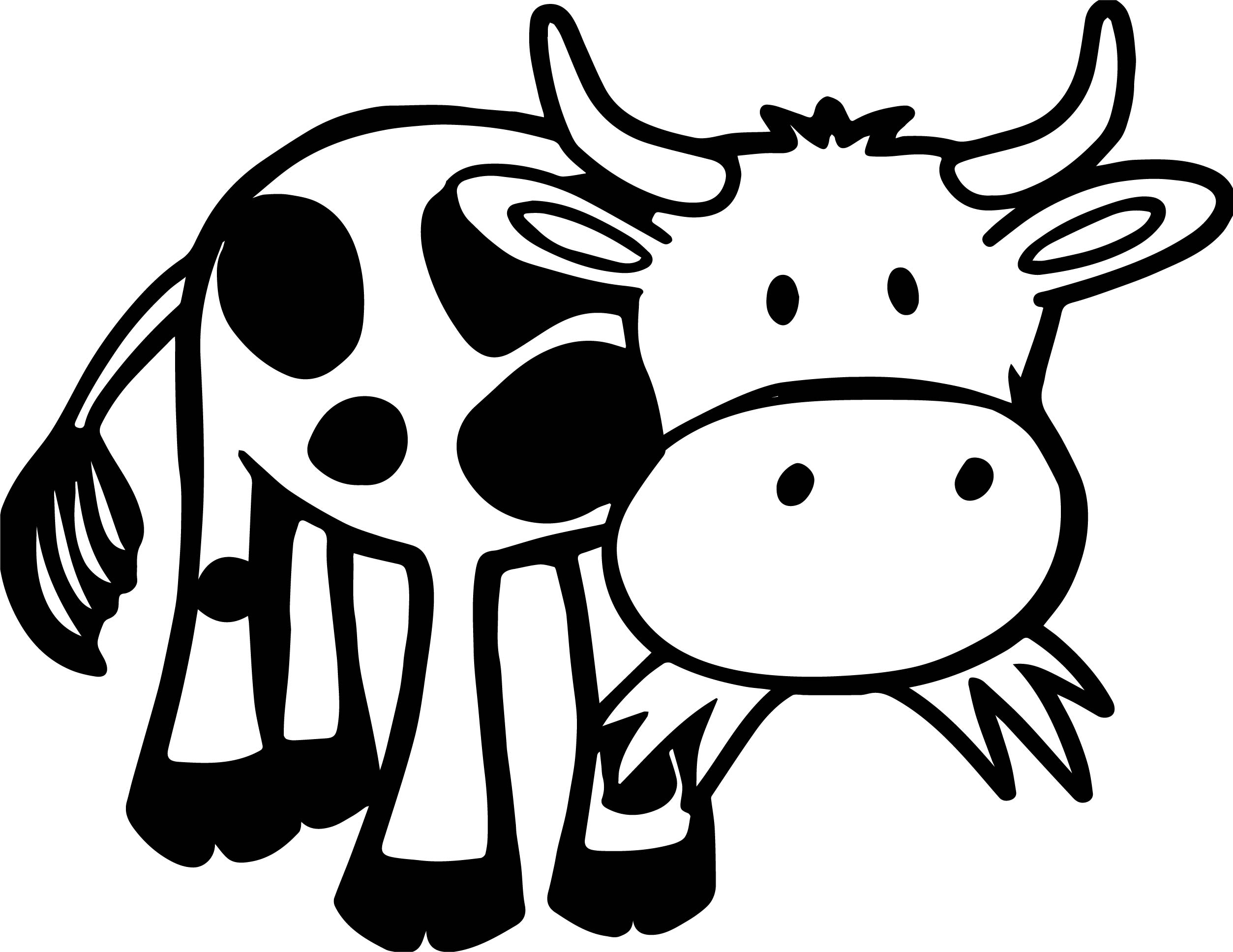 Baby Farm Cow Animal Coloring Page Wecoloringpage