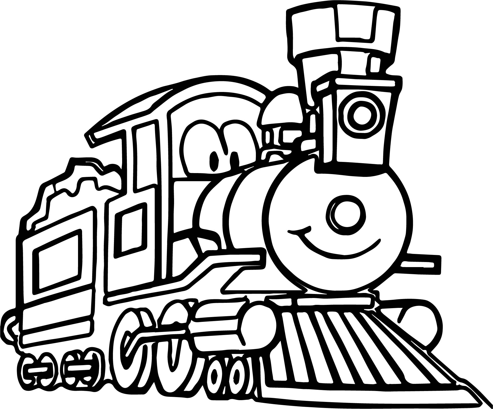 Cartoon Train Coloring Coloring Pages
