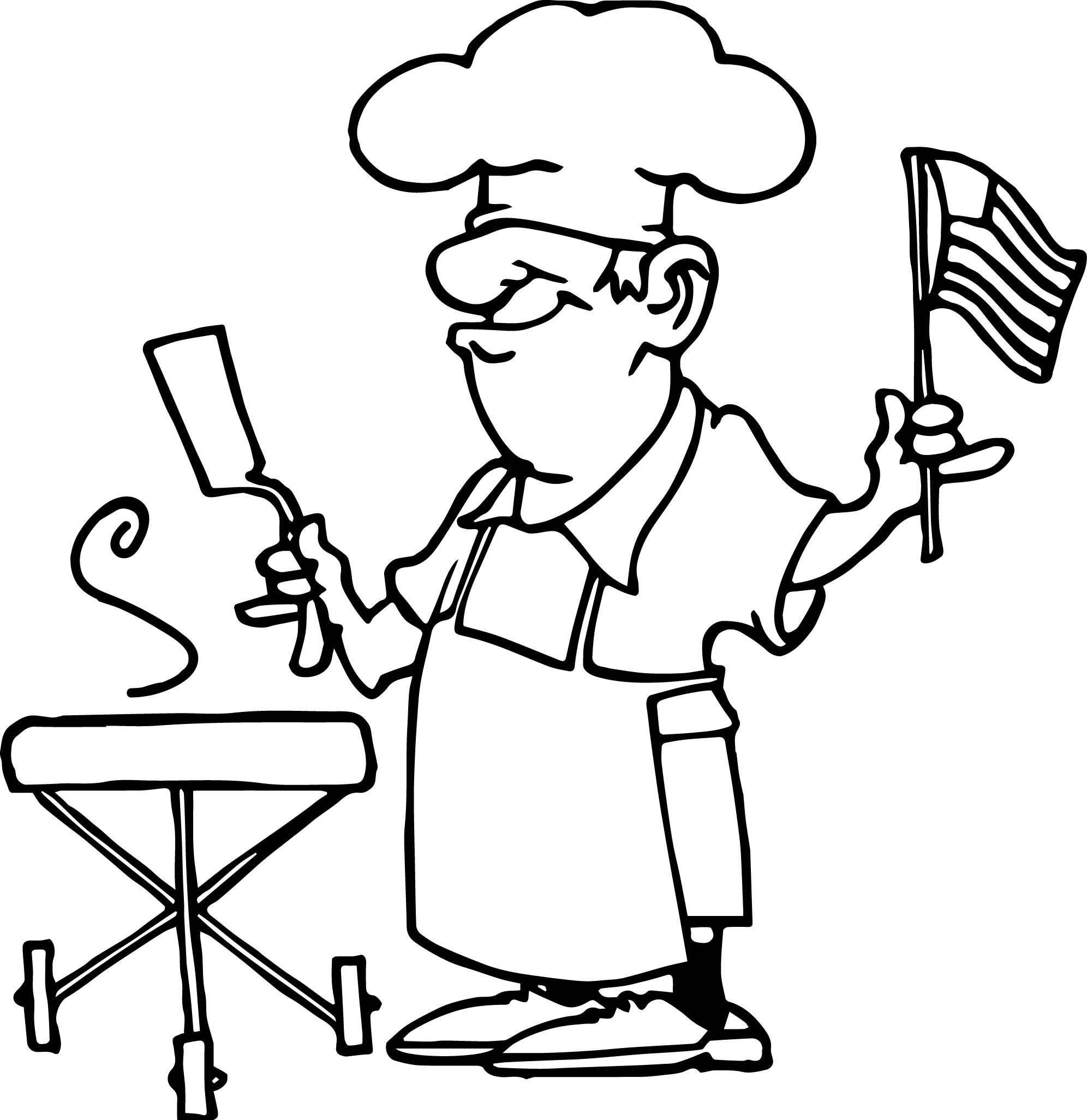 Food 4th July Coloring Page