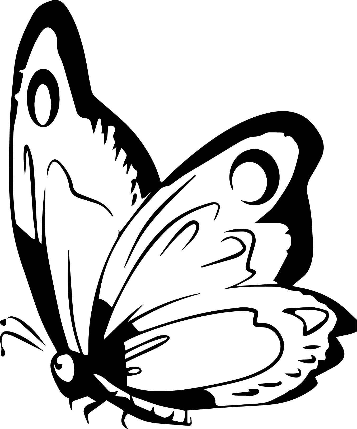 Free Art Butterfly Coloring Page