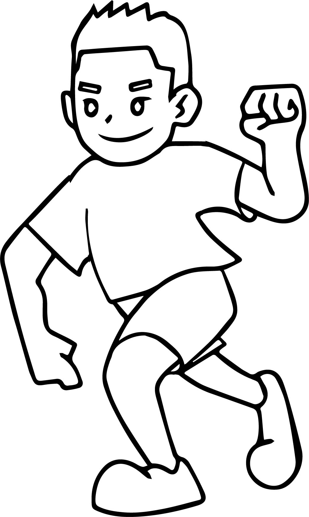 Running Coloring Pages