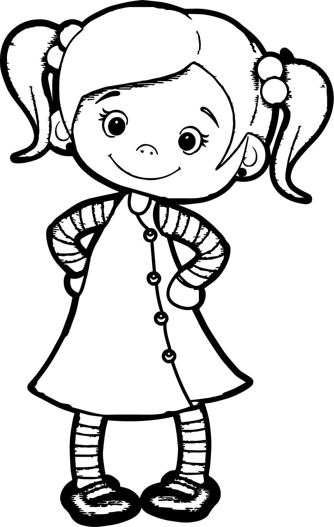 Beautiful Cute Girl Coloring Page