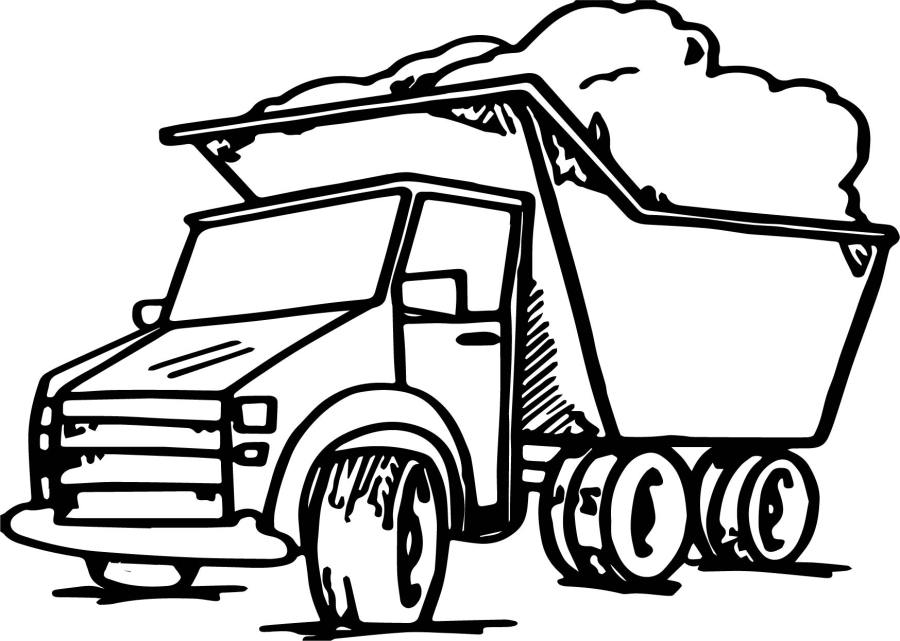 Garbage Truck Coloring Page | Wecoloringpage.com