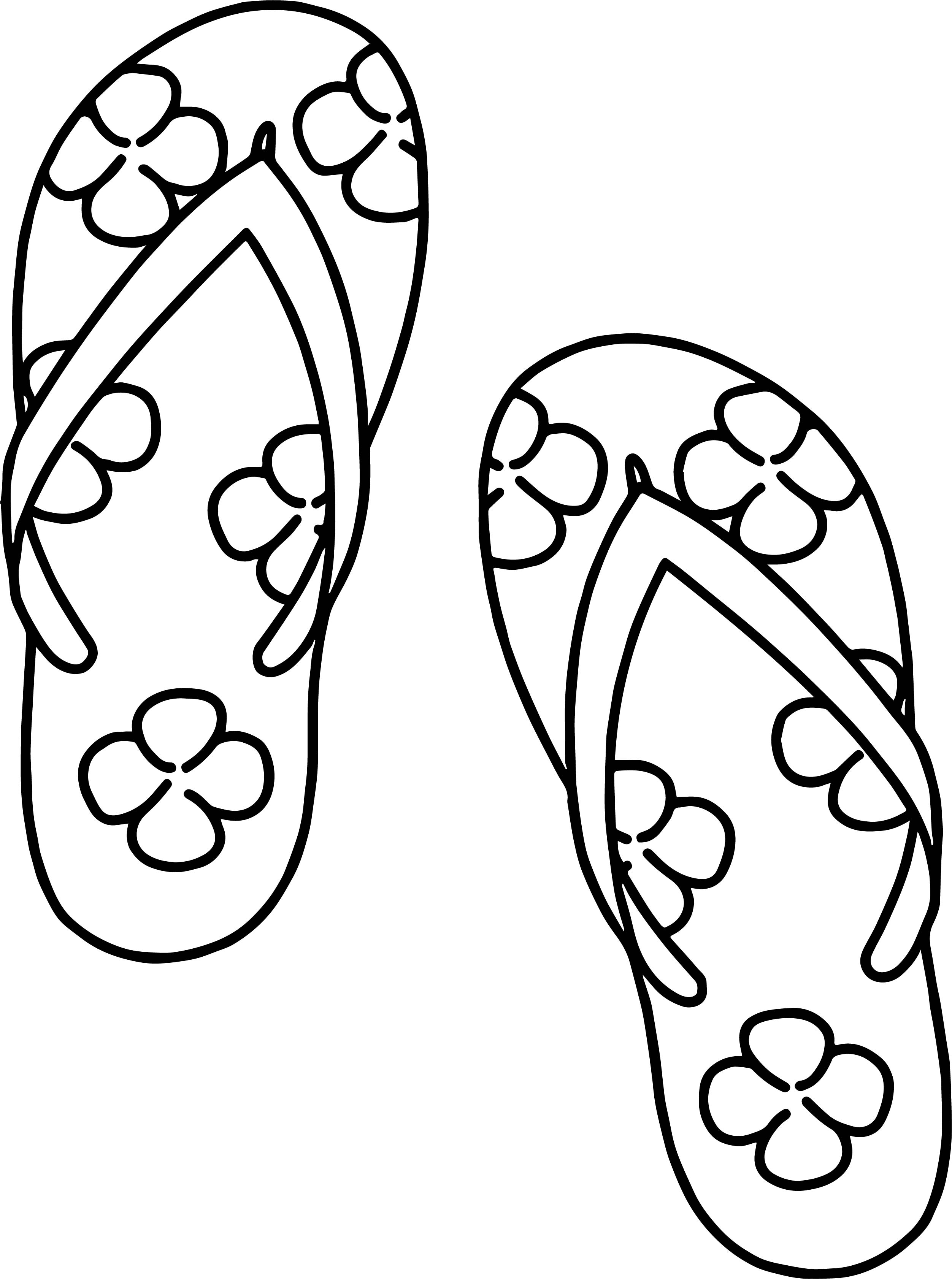Slipper Summer Clover Coloring Page