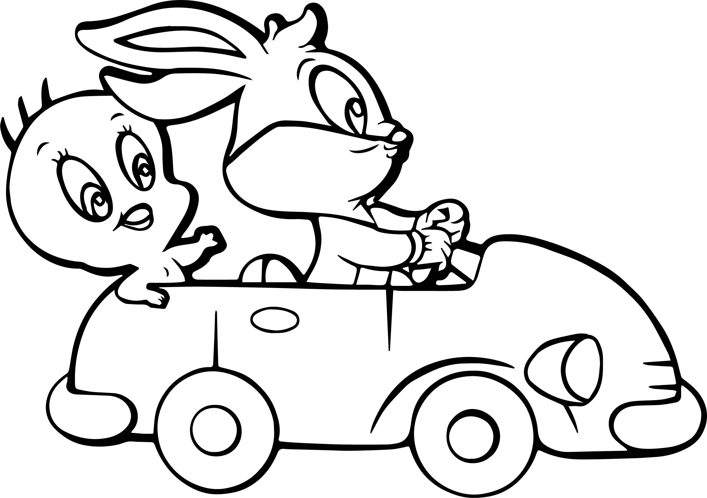 Tweety And Bugs Bunny Coloring Page