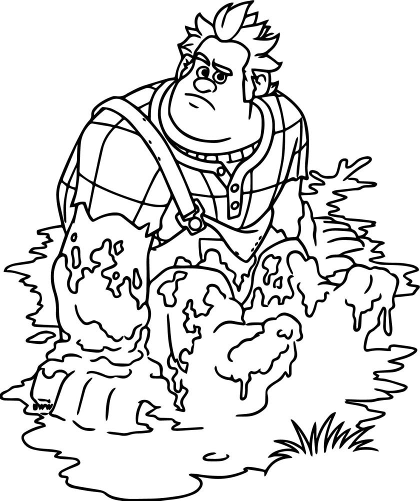 wreck it ralph mud coloring page  wecoloringpage