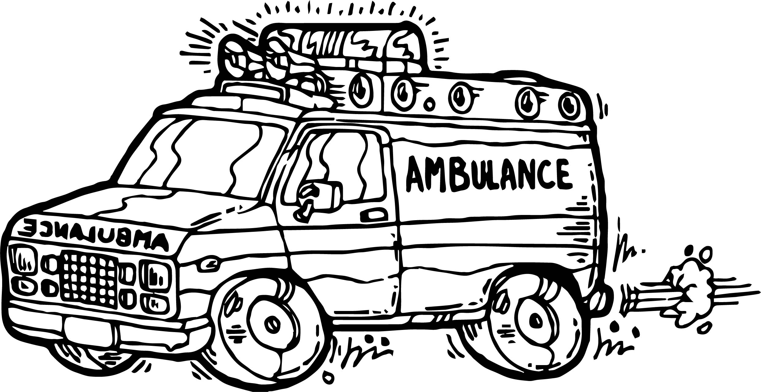 Ambulance Coloring Pages