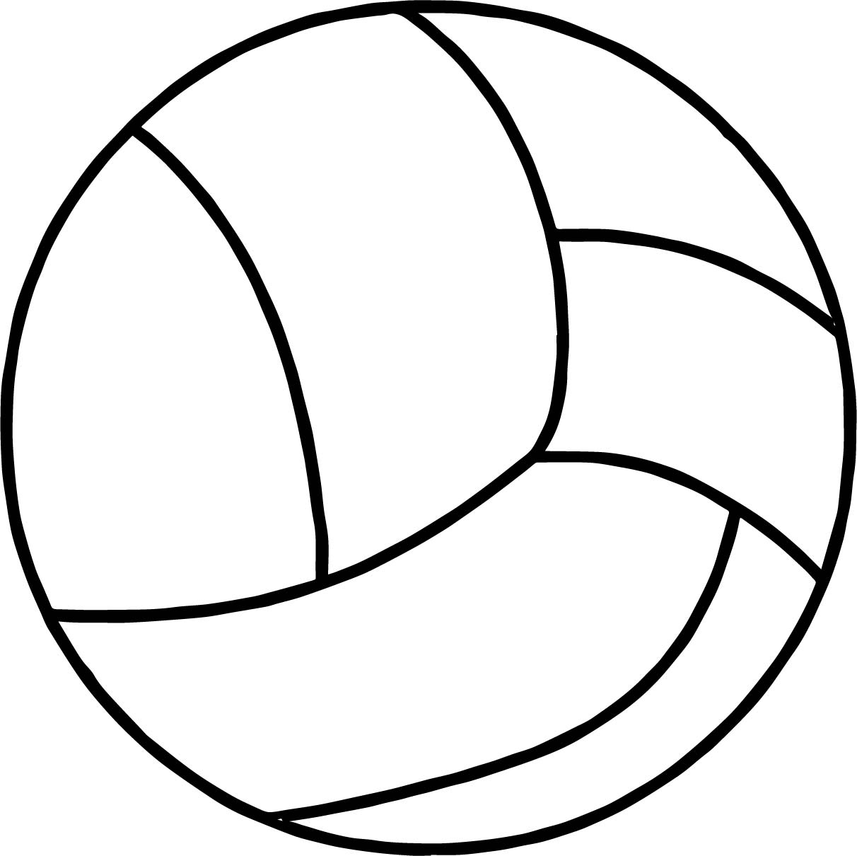 Clear Volleyball Ball Coloring Page