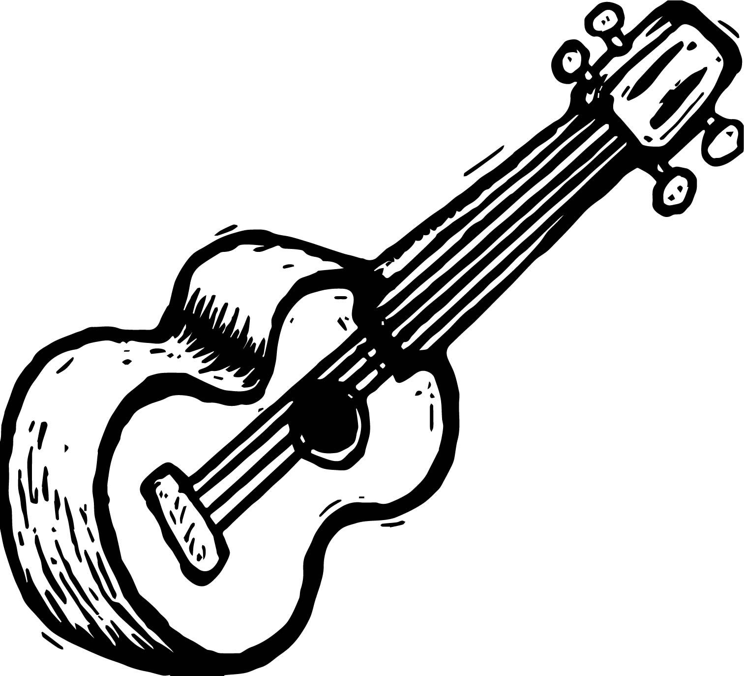 Guitar Coloring Page Wecoloringpage