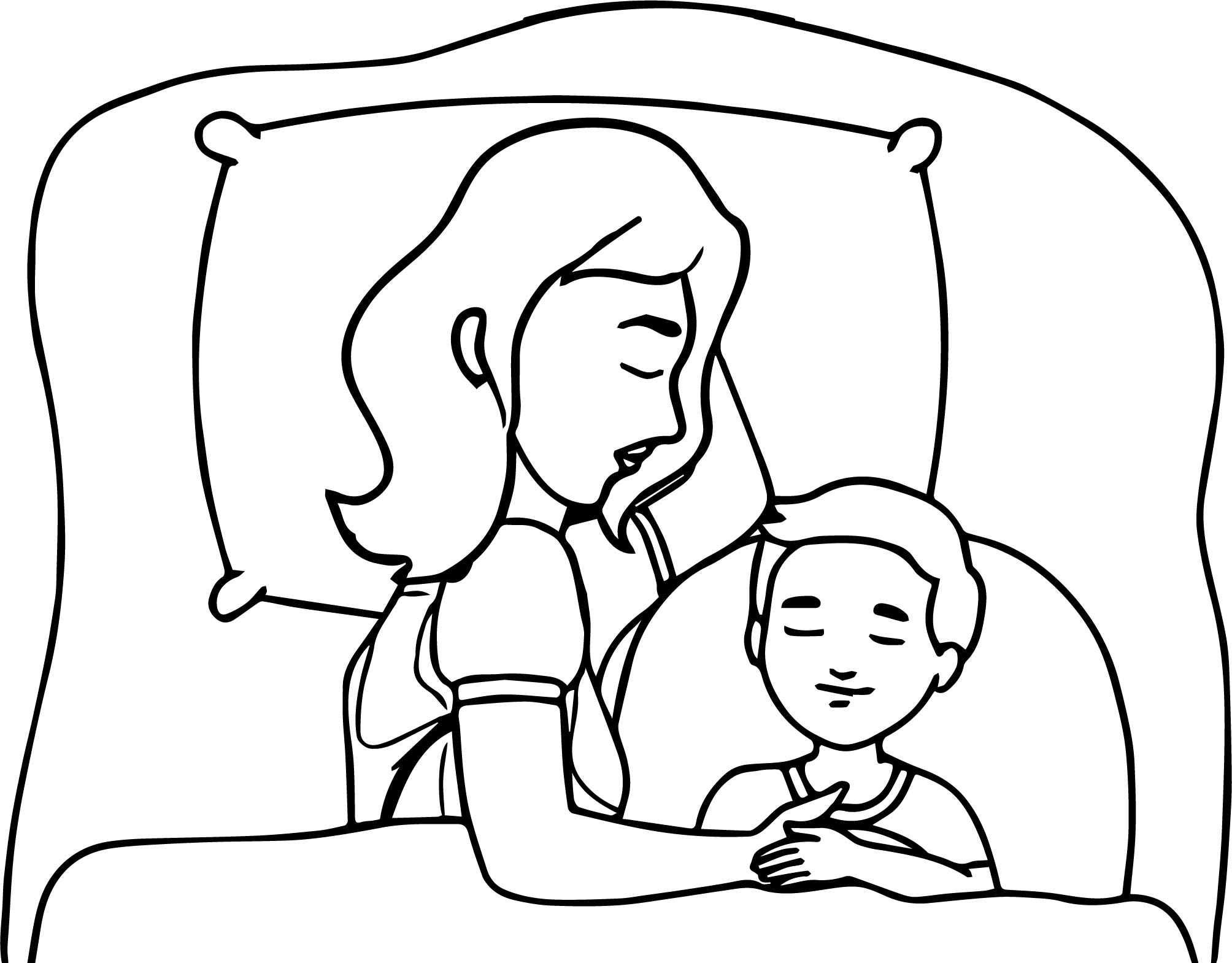 Coloring Pages Sleeping Child