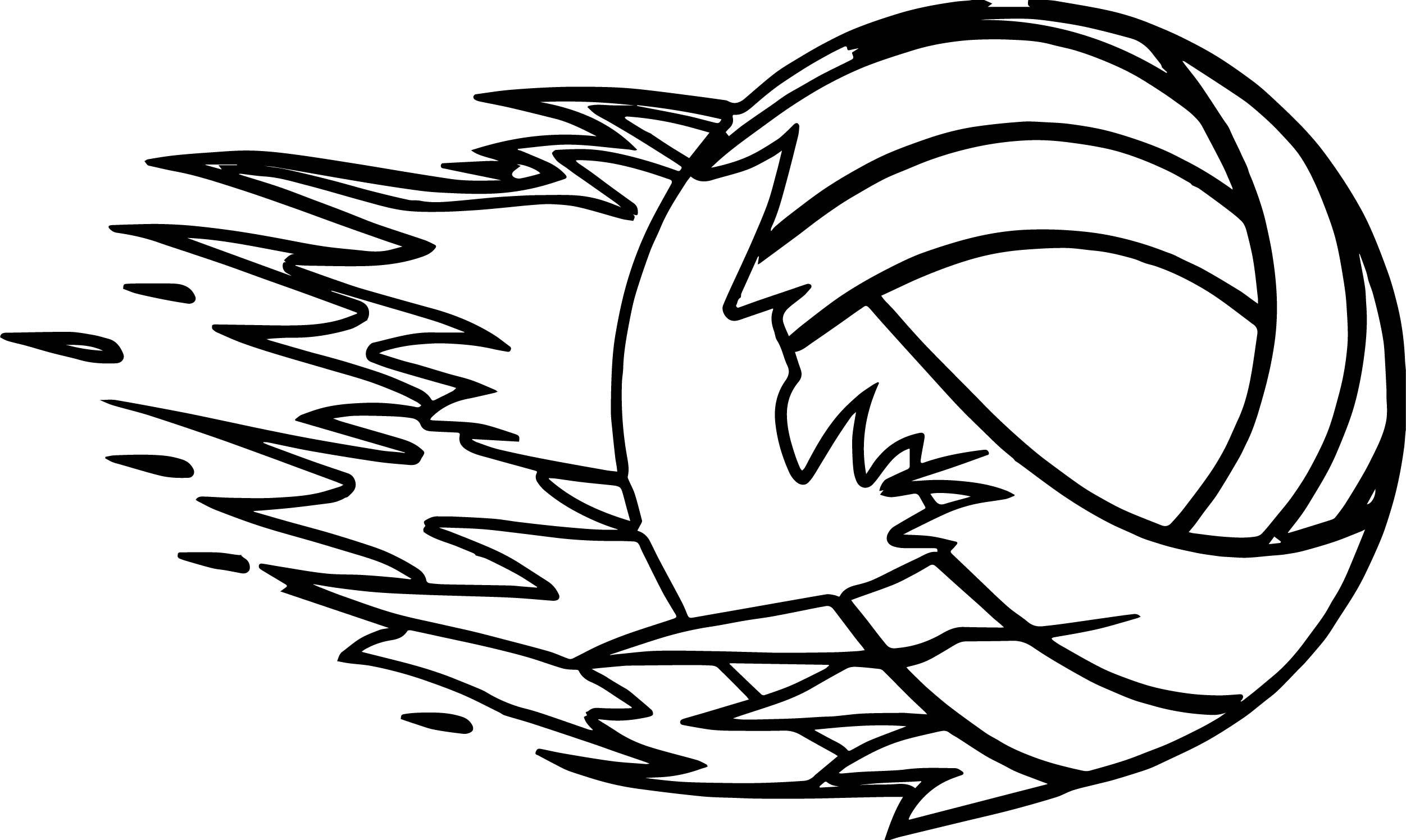 New Voleyball Coloring Page