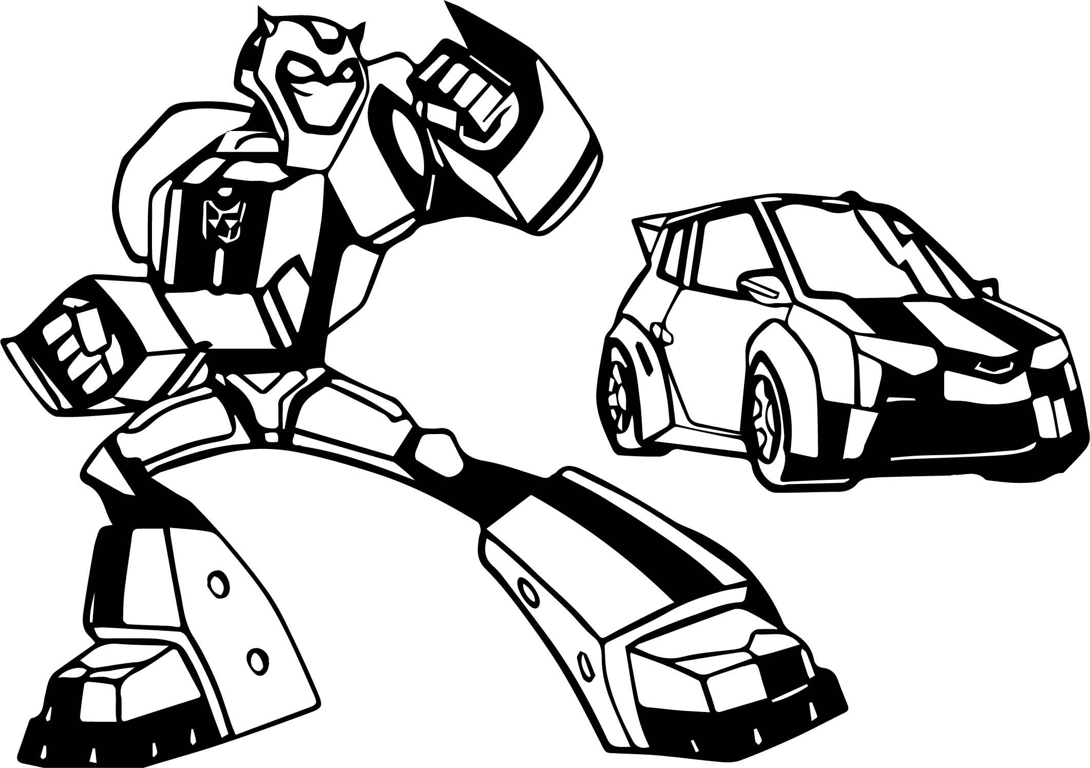 Transformers Cars Coloring Pages Sketch Coloring Page
