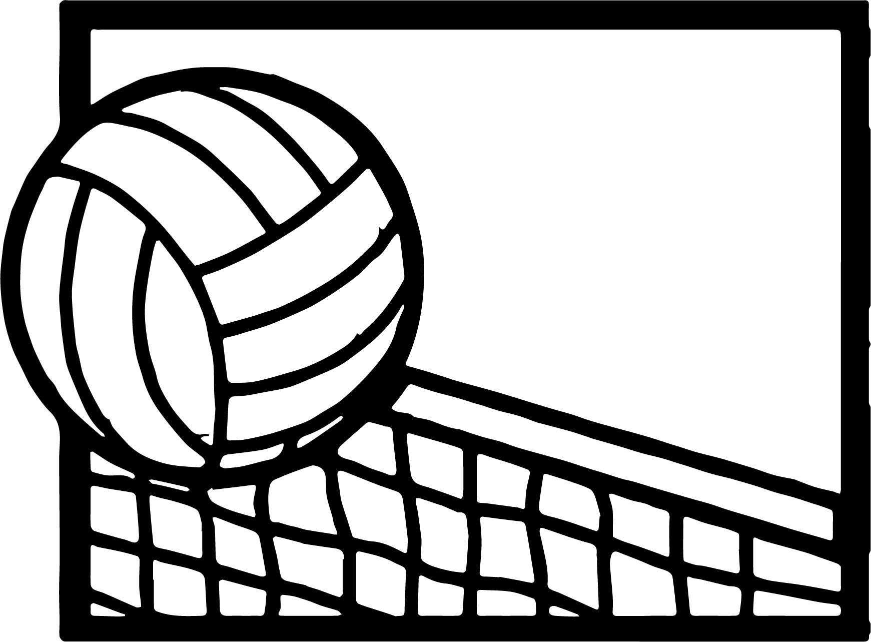 Volleyball Cartoon Coloring Page Wecoloringpage