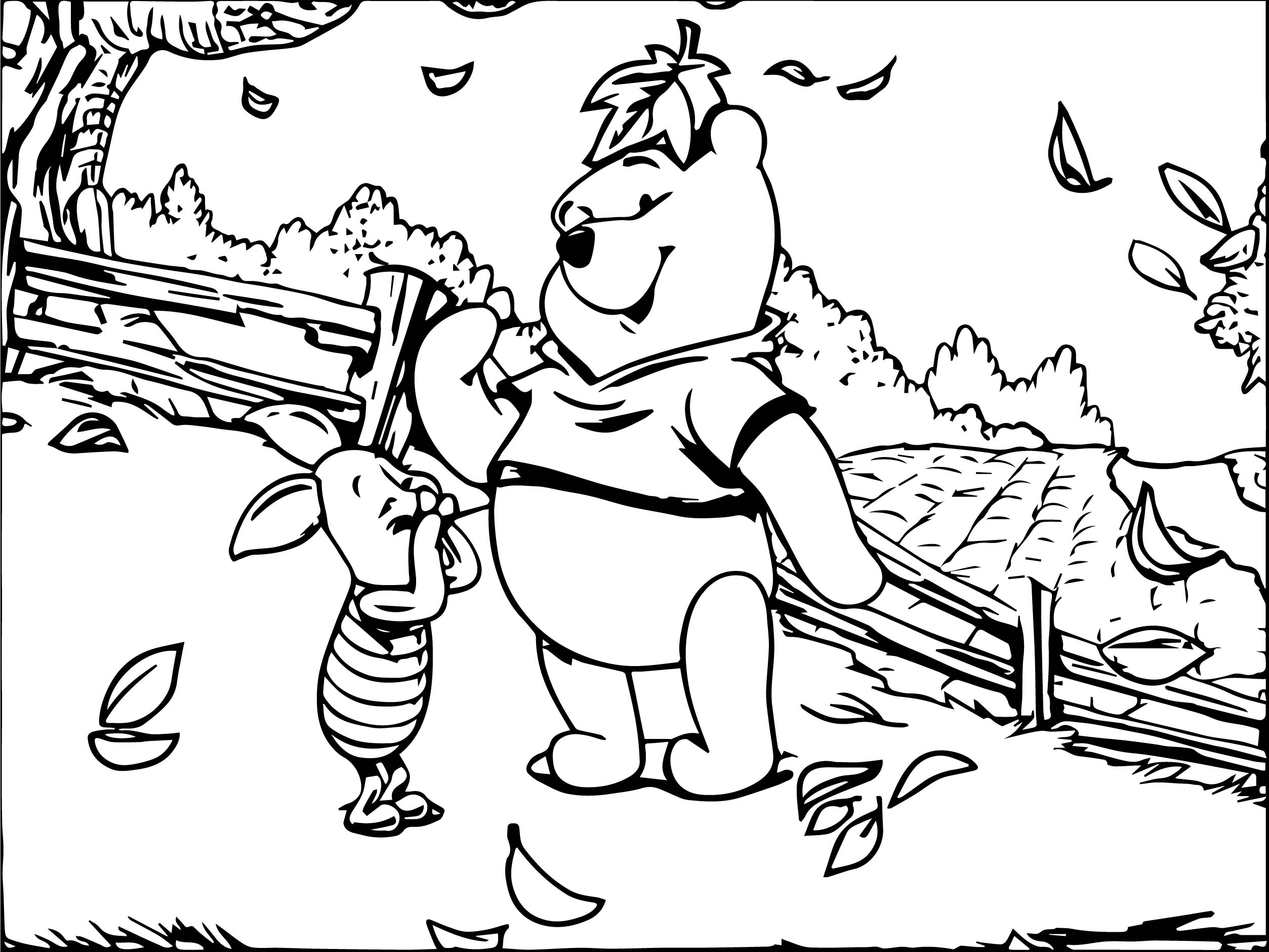 Fall Pages Eeyore Coloring Pages