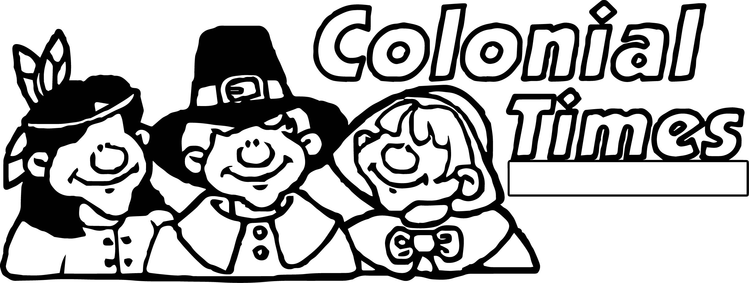 Colonial America Coloring Pages Sketch Coloring Page