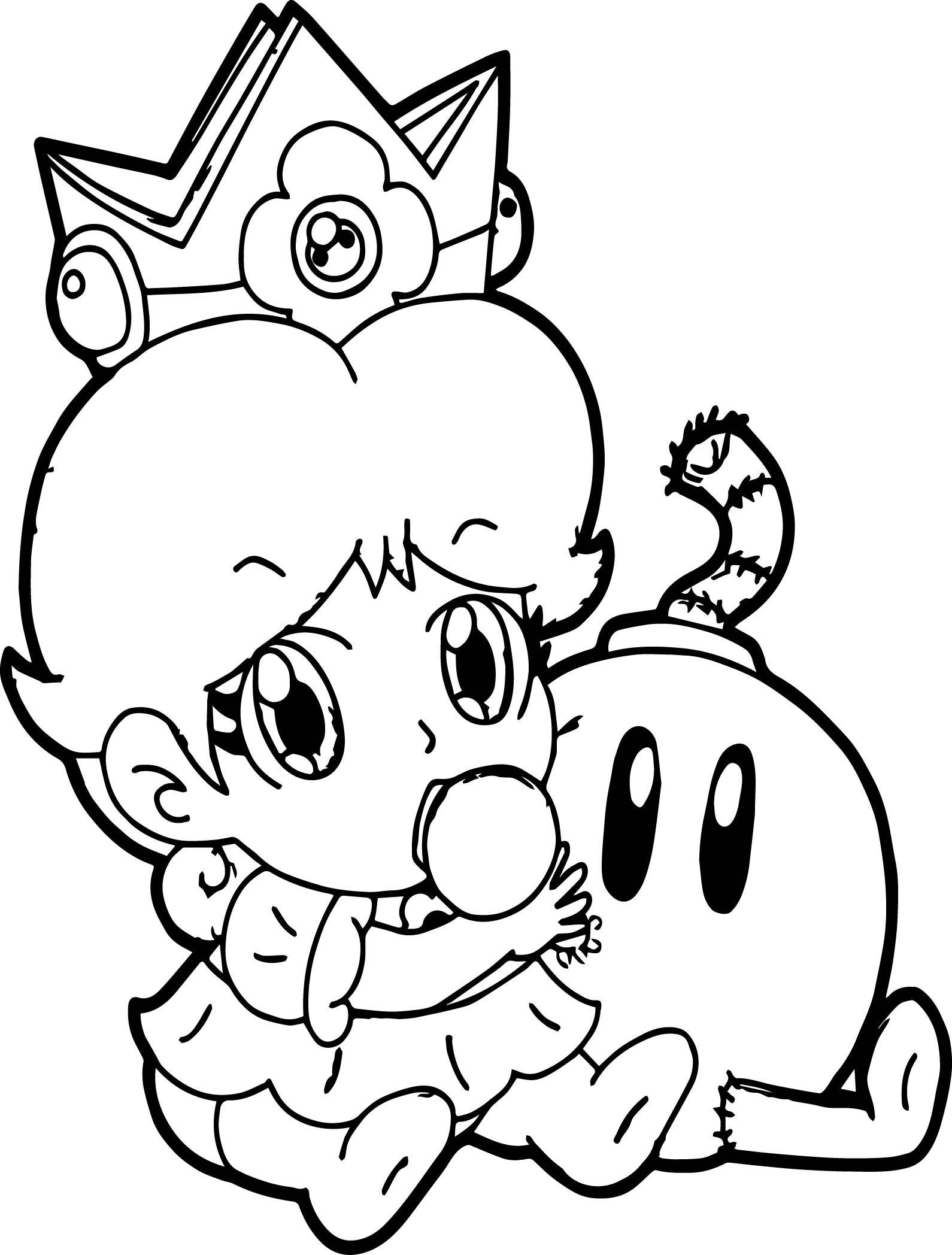 Baby Daisy Coloring Page