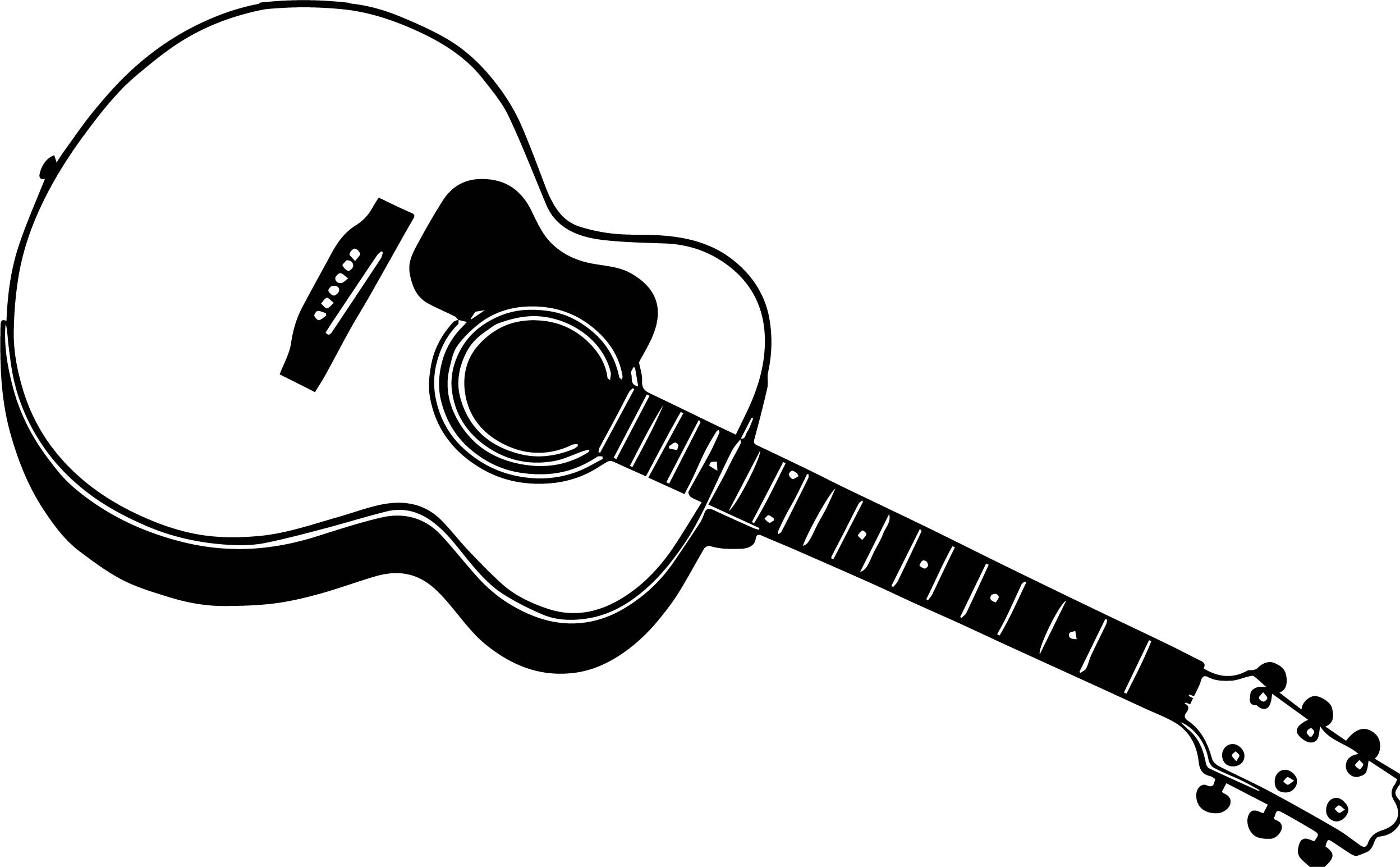 Good Guitar Coloring Page Wecoloringpage