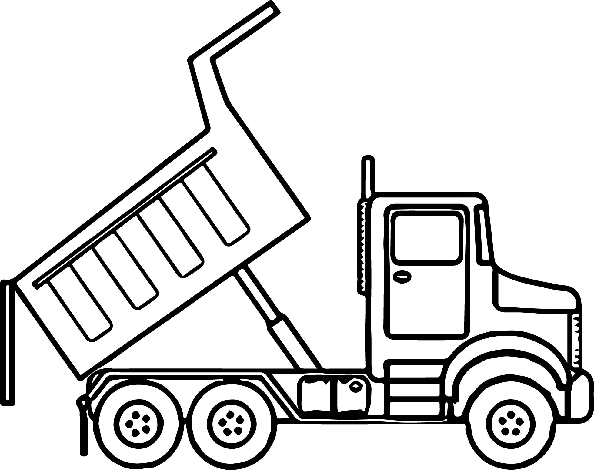 Scripted Dump Truck Coloring Page Wecoloringpage