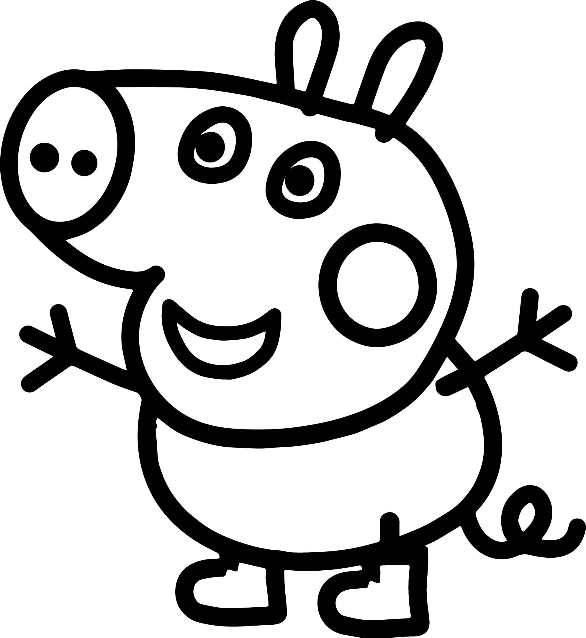 Small Baby Peppa Pig Coloring Page Wecoloringpage