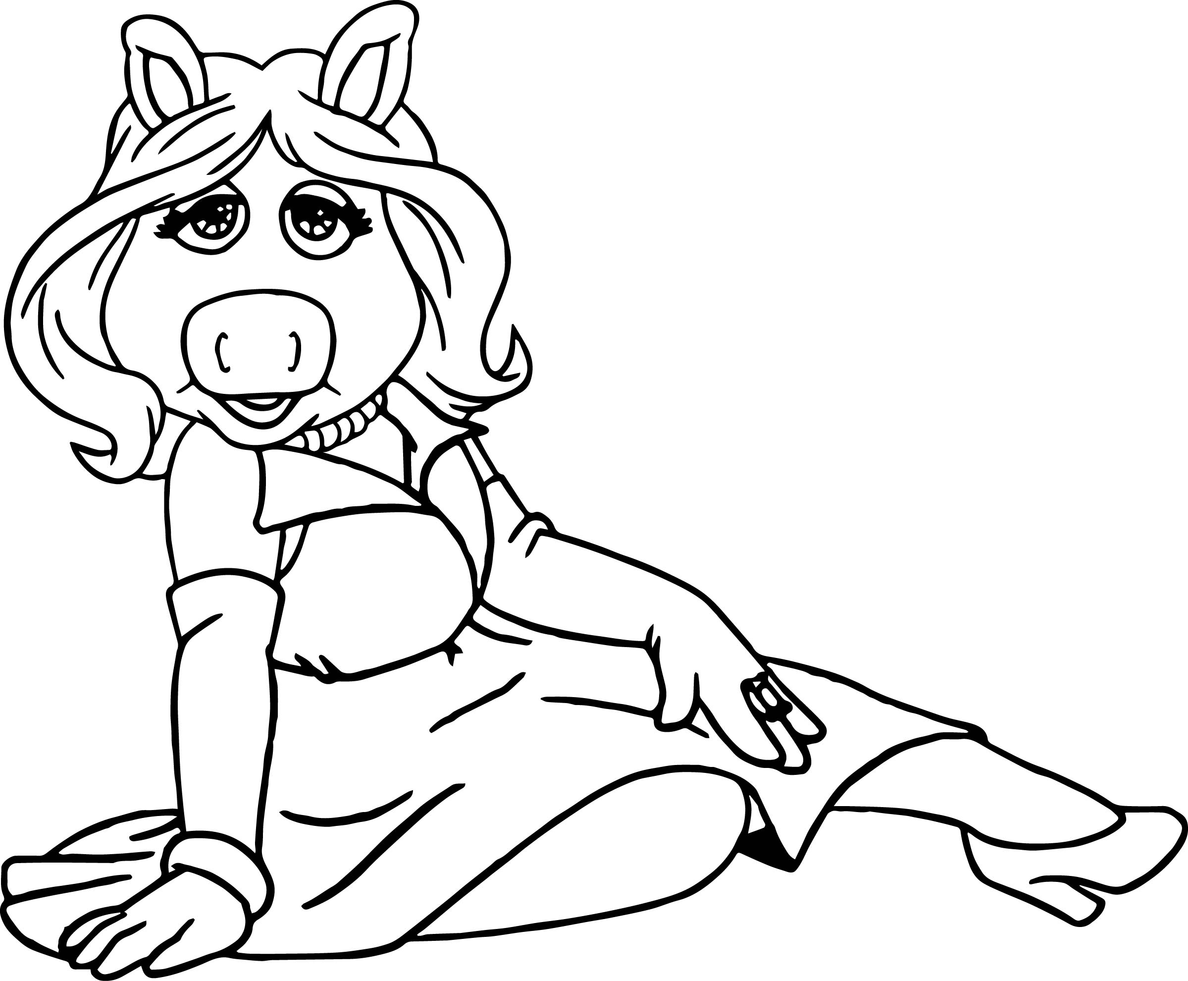 Miss Piggy Coloring Pages Free Kids Coloring Pages Download