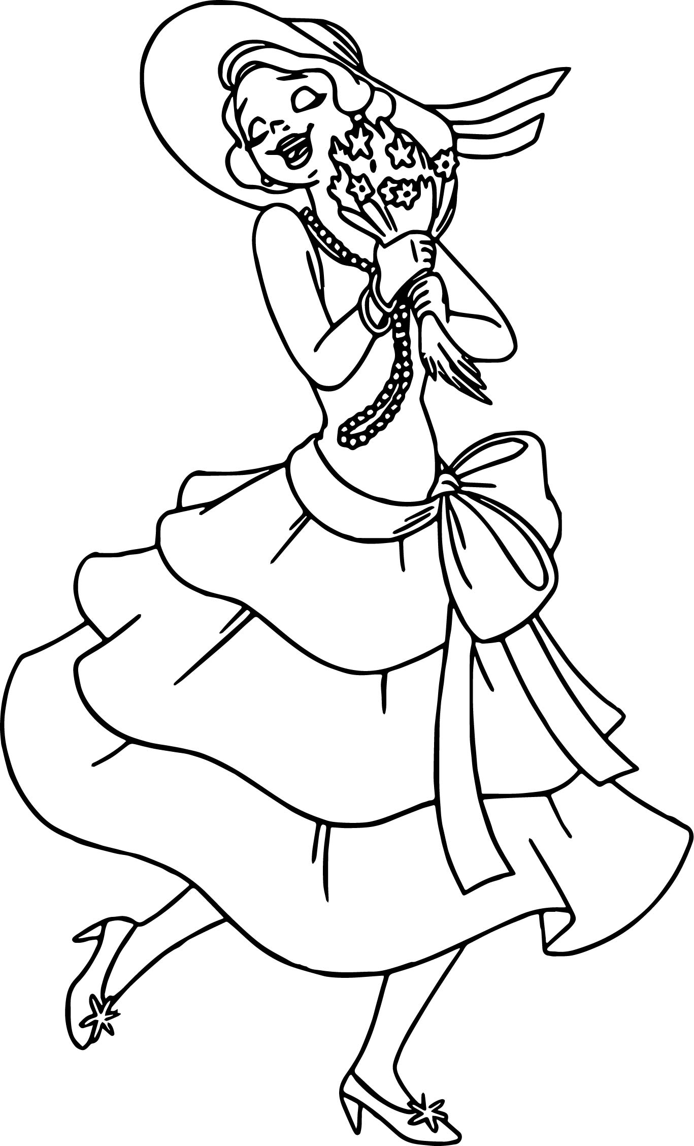The Princess And The Frog Very Flower Coloring Page