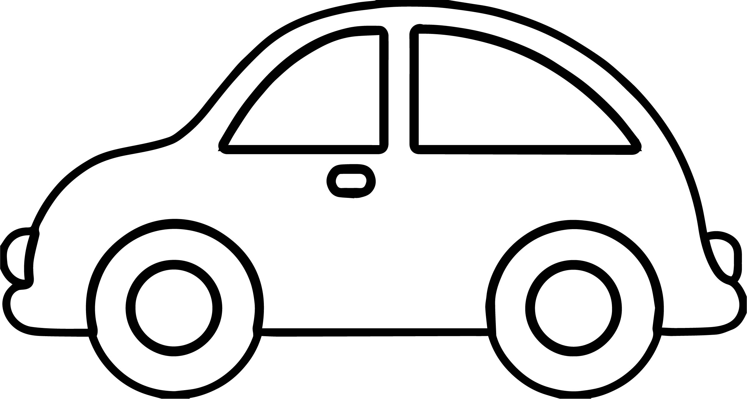Toy Car Basic Side View Coloring Page Wecoloringpage