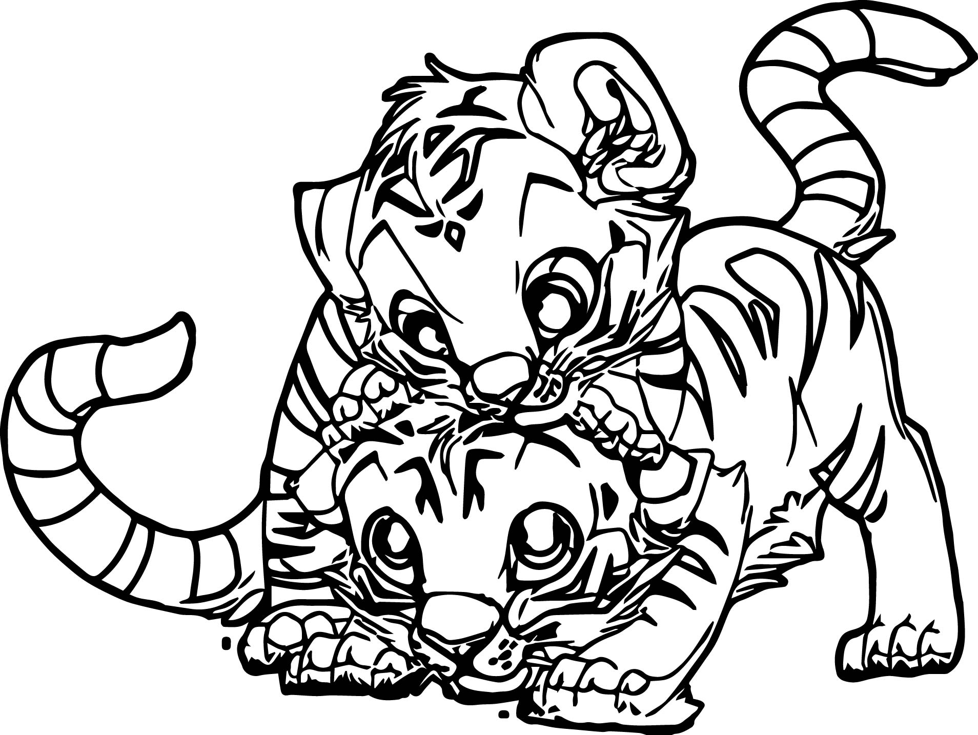 Baby Tiger Pages Coloring Pages