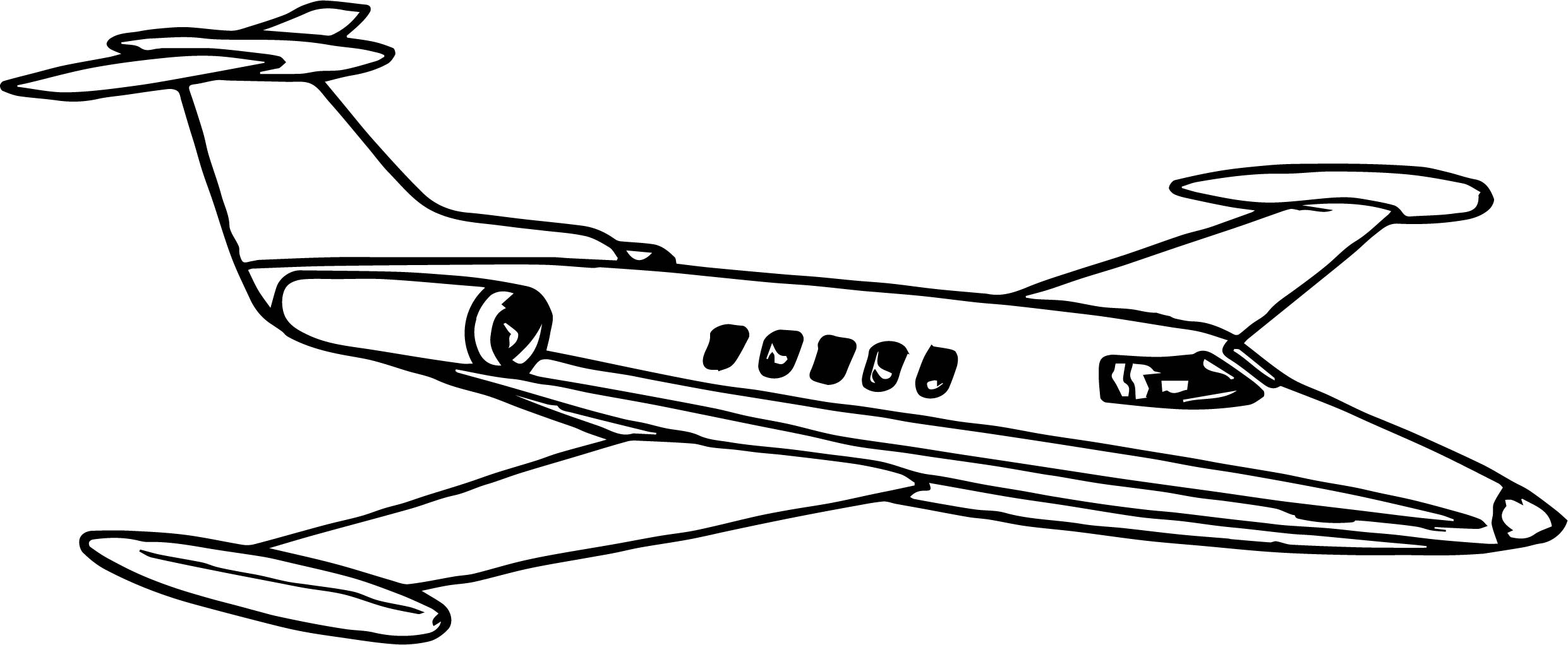 Vip Airplane Coloring Page Wecoloringpage