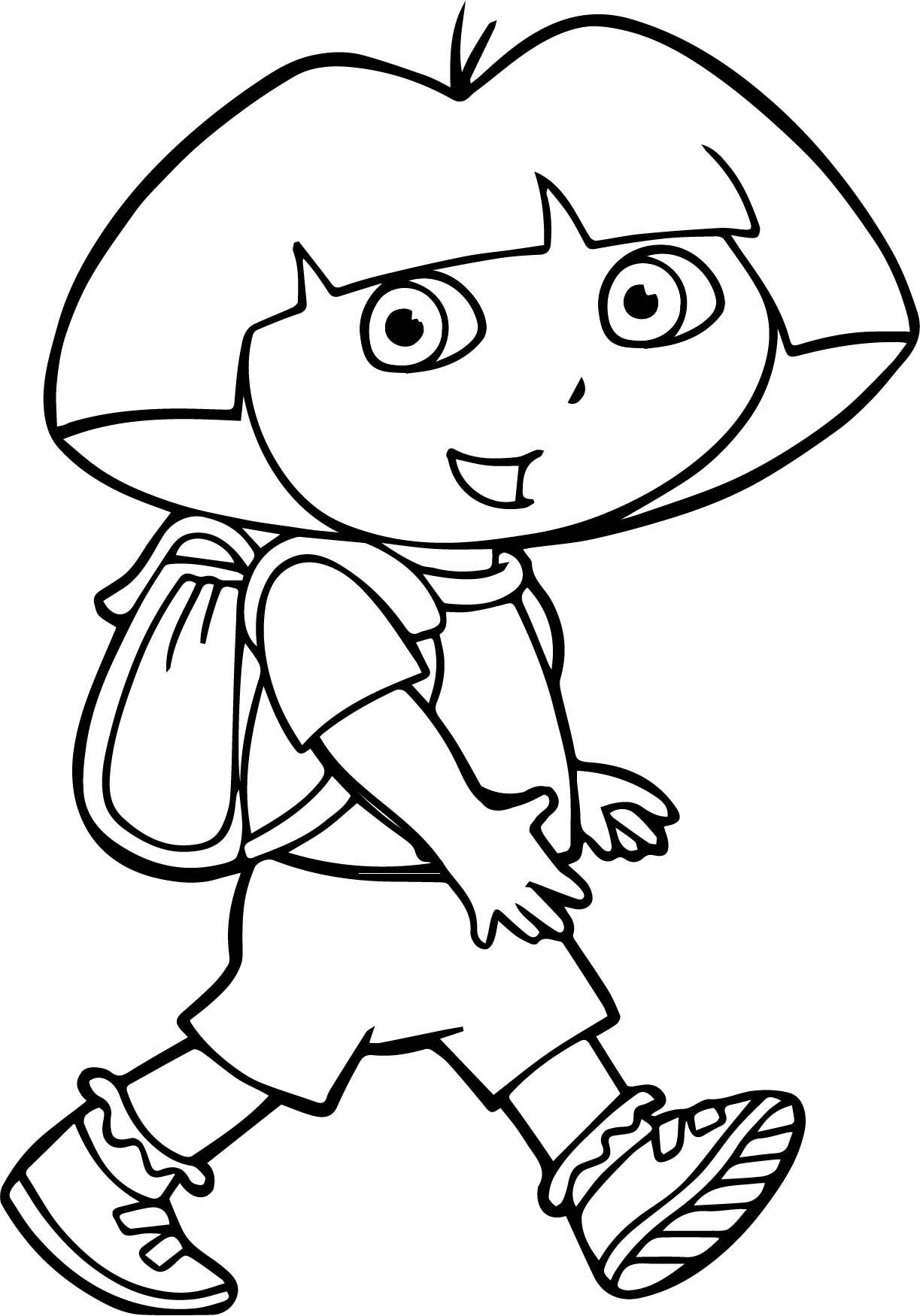 Walking Dora Coloring Page Wecoloringpage