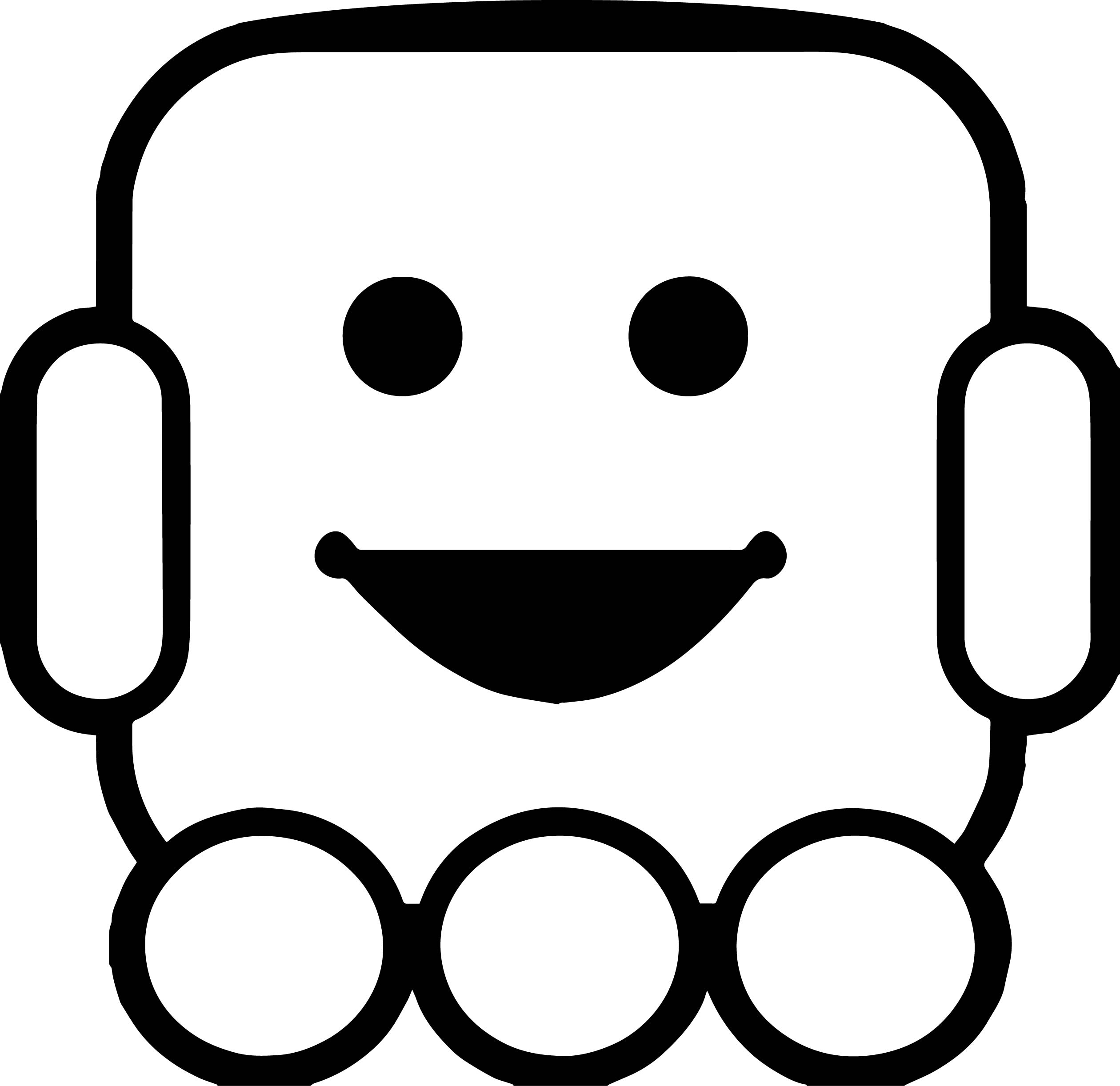 Basic Robot Coloring Page