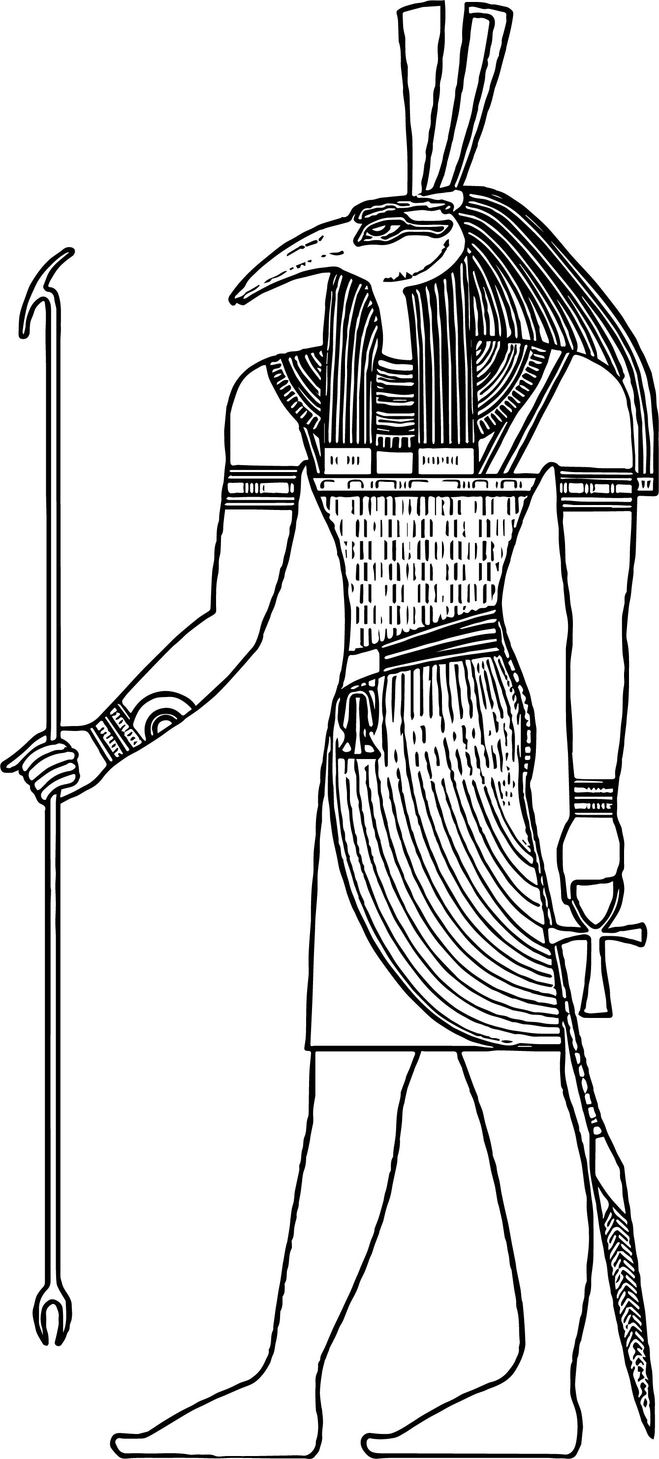 Egyptian Symbols Pages Coloring Pages