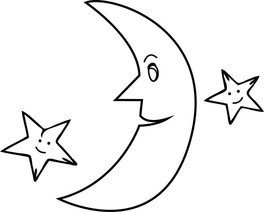 half moon stars coloringpage  wecoloringpage