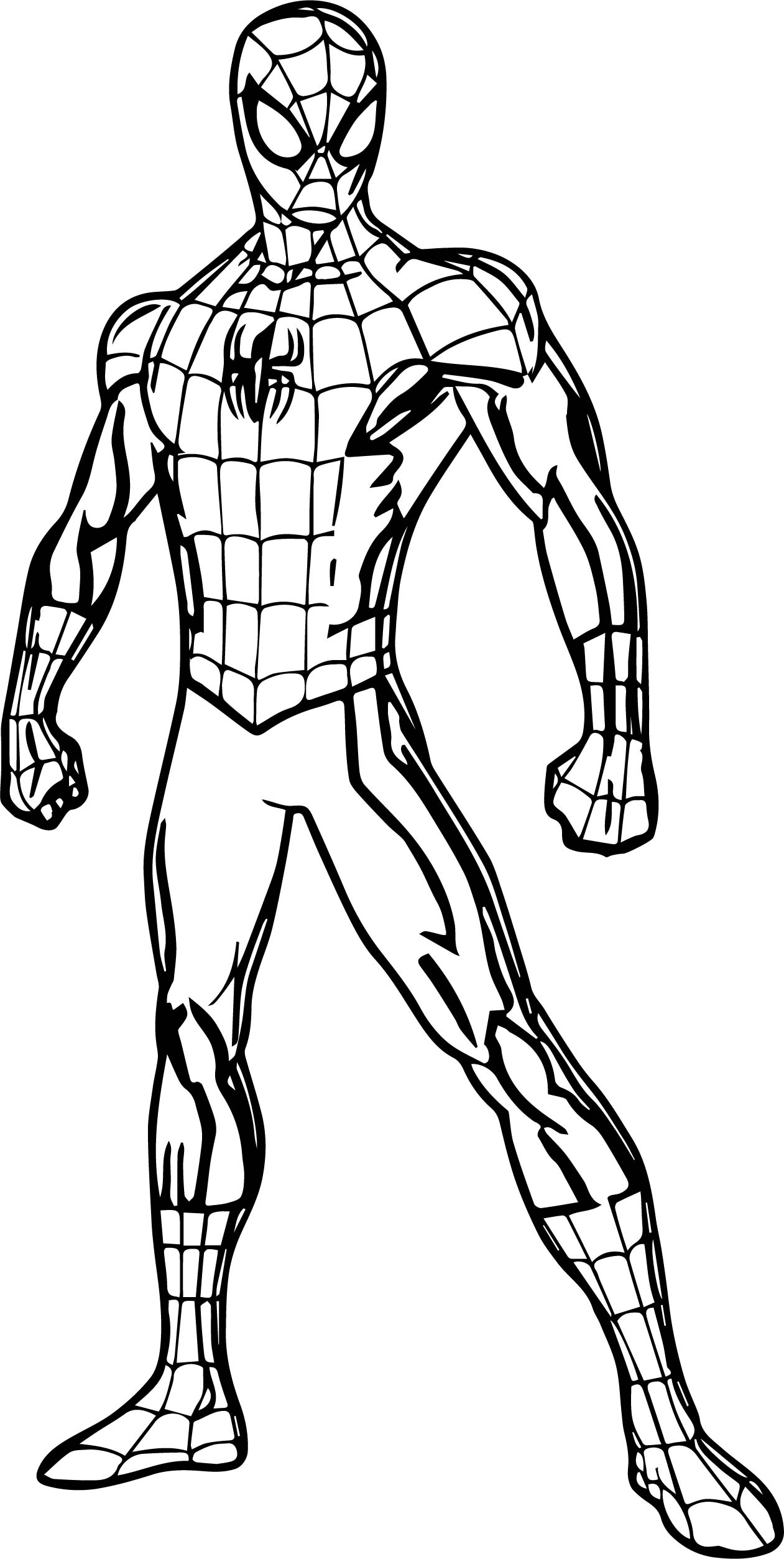 Spider Man Pose Coloring Page