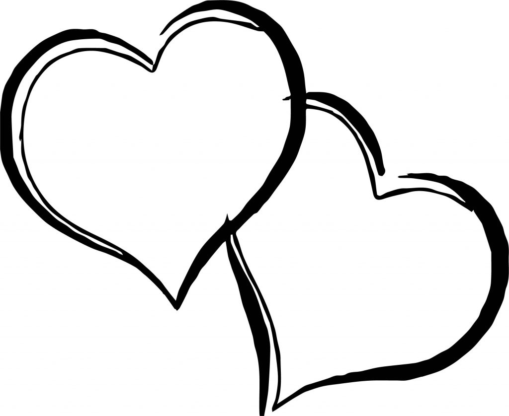 Any Images Two Heart Coloring Page