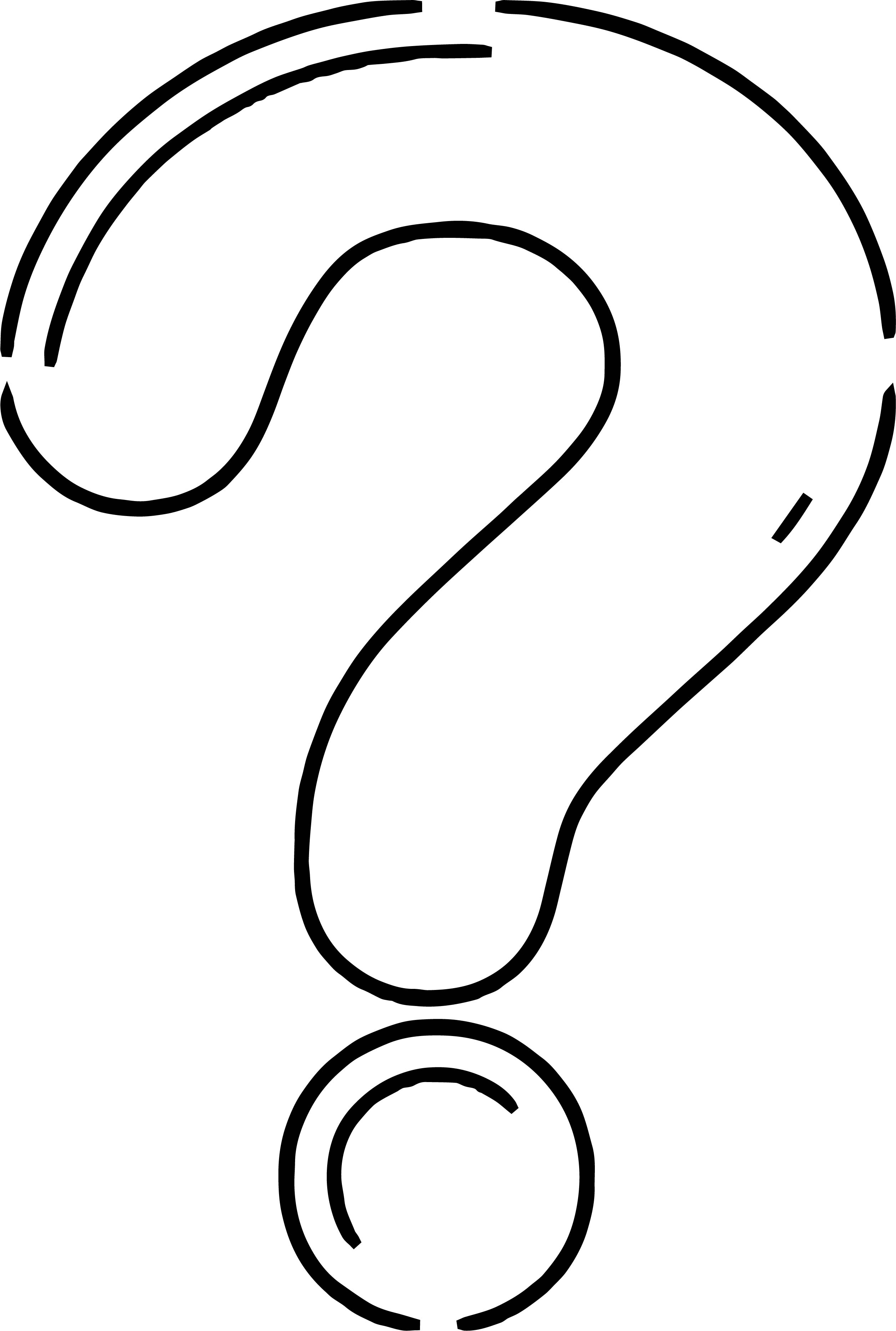 Any Question Mark Coloring Page