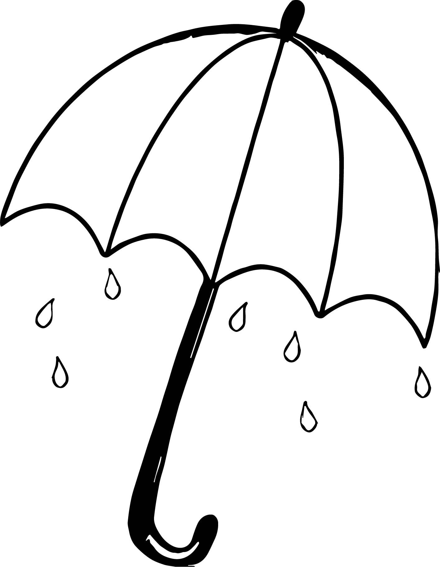 April Shower Umbrella Coloring Page
