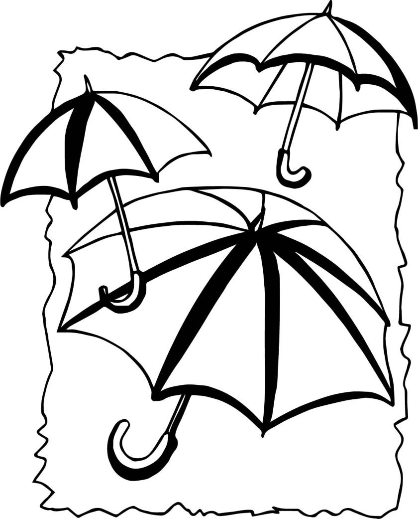 april shower umbrellas coloring page  wecoloringpage