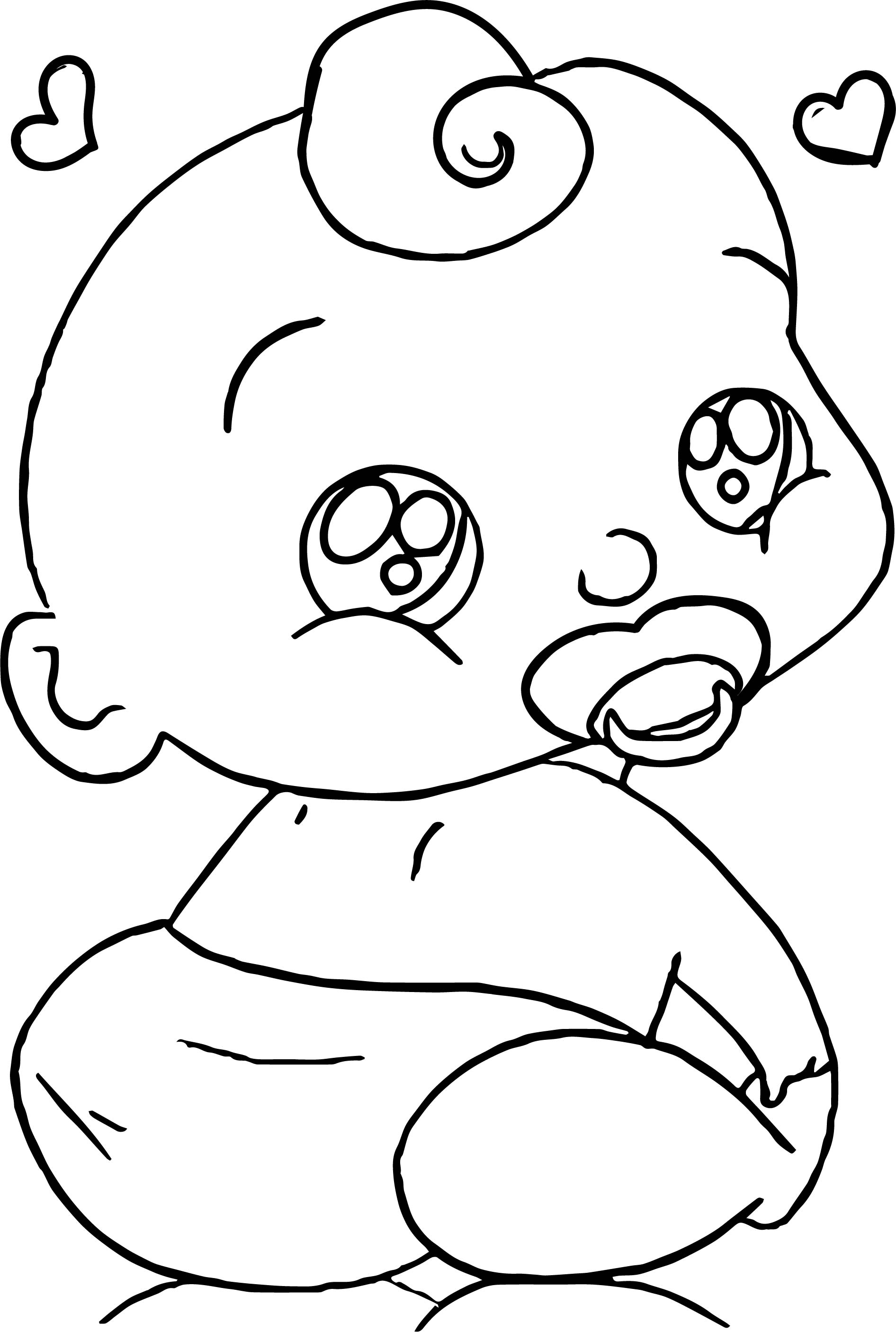 Baby Boy Cartoon Faces Coloring Page
