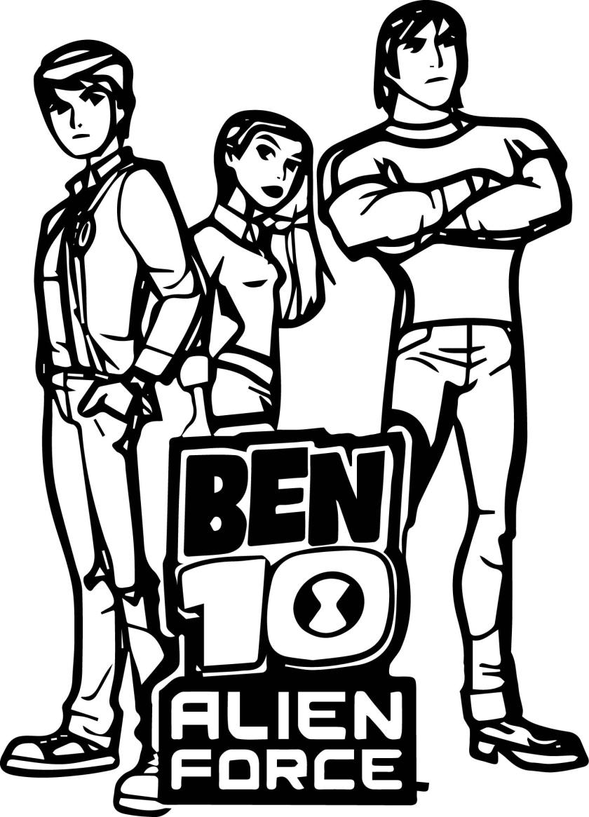 ben 10 alien force coloring page  wecoloringpage