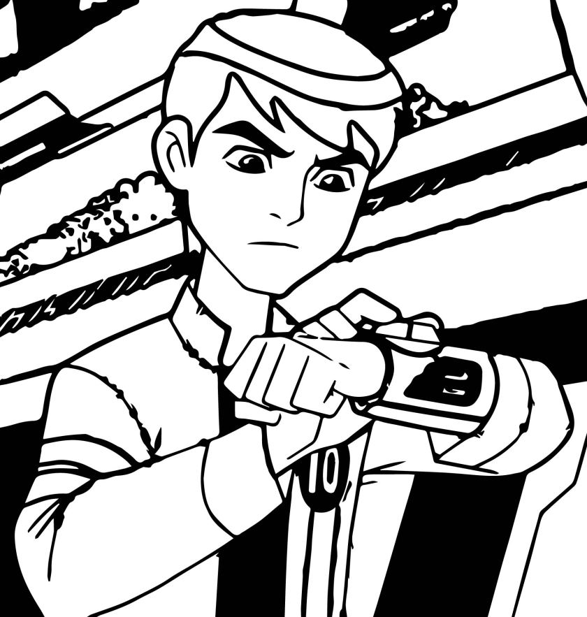 ben 10 alien force last episode coloring page
